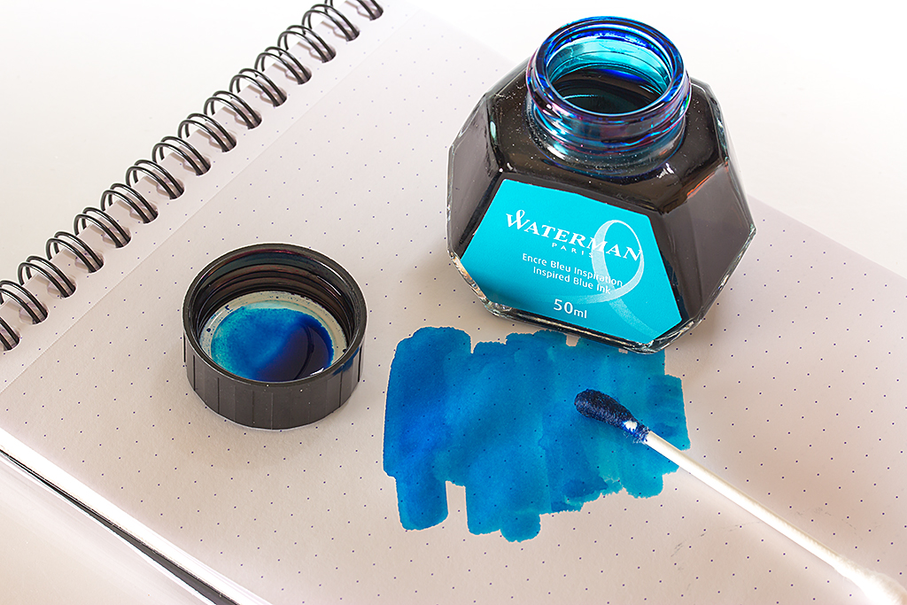 Inspired Blue Ink Shot