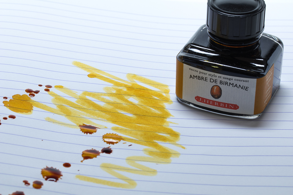 Ambre De Birmanie Fountain Pen Ink, J. Herbin
