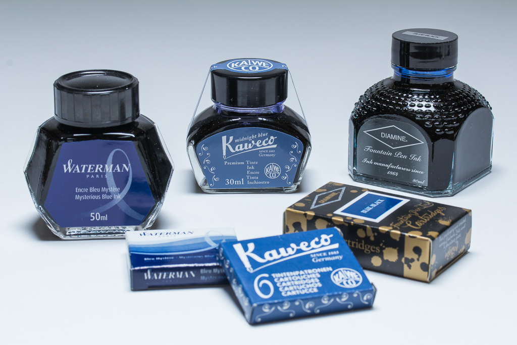 Blue-Black Fountain Pen Inks